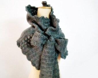 Cowl Crochet Pattern,Crochet Wrap Pattern,Neck Warmer with Bow Ties Pattern,Crochet Scarf Pattern,DIY Scarf,Wrap Crocheting Pattern,214