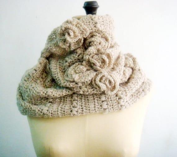 Crochet Pattern Cowl Infinity Loop Circle Scarf Crocheting Etsy