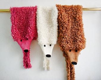 Fox Scarf Knitting Pattern, 232