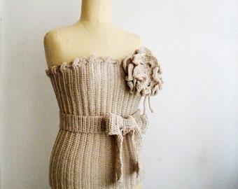 Crochet PATTERN Bustier Crocheted Corset Top, 2