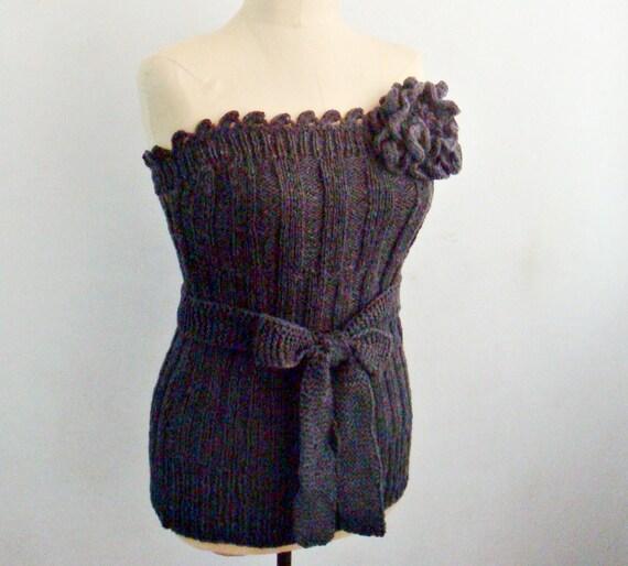 PATRONES que hacen punto y el Crocheting tejer corpiño corsé