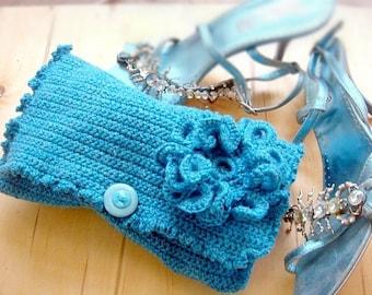 PATTERN Crochet Clutch Purse Crochet Bag Pattern with Crochet Flower Brooch, 52