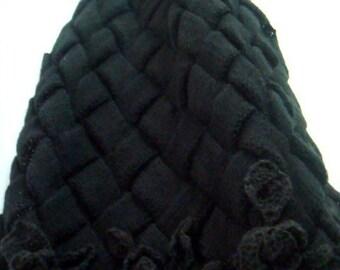 Knitting PATTERN Entrelac Scarf,Oversized Knit Scarf Pattern,Large Scarf Shawl Pattern with Roses,Large Entrelac Wrap Pattern,34