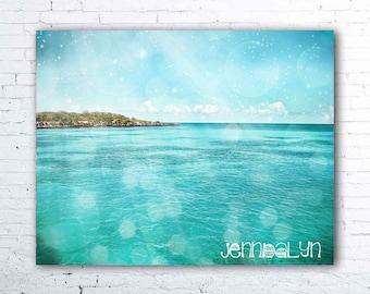 caribbean art - tropical decor - ocean photography - caribbean decor