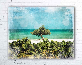 aruba photography - tropical art - beach decor - aqua ocean photography