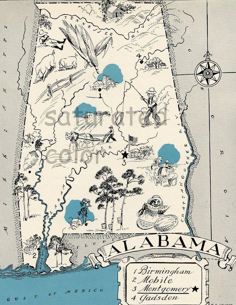ORIGINAL 1931 Alabama Map Vintage Picture Map - Antique Carming Teal on alabama on the map, alabama industry map, alabama major city, alabama major resource, alabama climate map, alabama map to color, alabama beach map, alabama counties, alabama agriculture map, alabama map poster, satellite maps of usa, alabama famous landmarks usa, alabama road map, alabama street map, united states maps usa, alabama pictturs fact, alabama state usa, alabama in the us, alabama and map, alabama map by county,