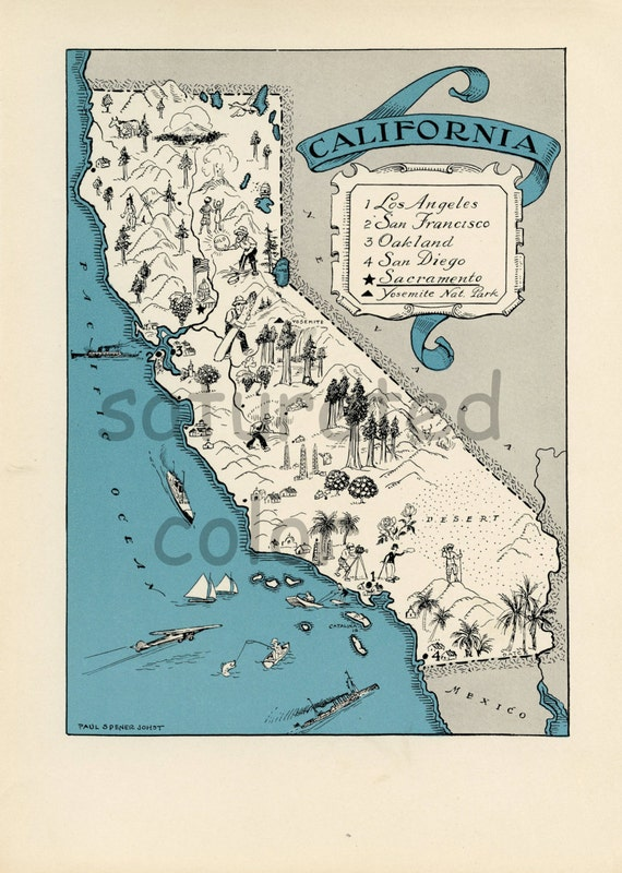 image relating to Printable California Map named Traditional CALIFORNIA MAP - Significant Res Electronic Impression - printable think about map for impression go - playing cards- totes - pillows - prints toward body