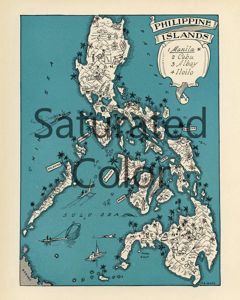 Karte Philippinen.Philippinen Karte Digital Download Jahrgang Bild Karte Diy Druck 8 X 10 Orfor Kissen Totes Karten Hochzeit Paul Spener Johst Charmanten Rahmen