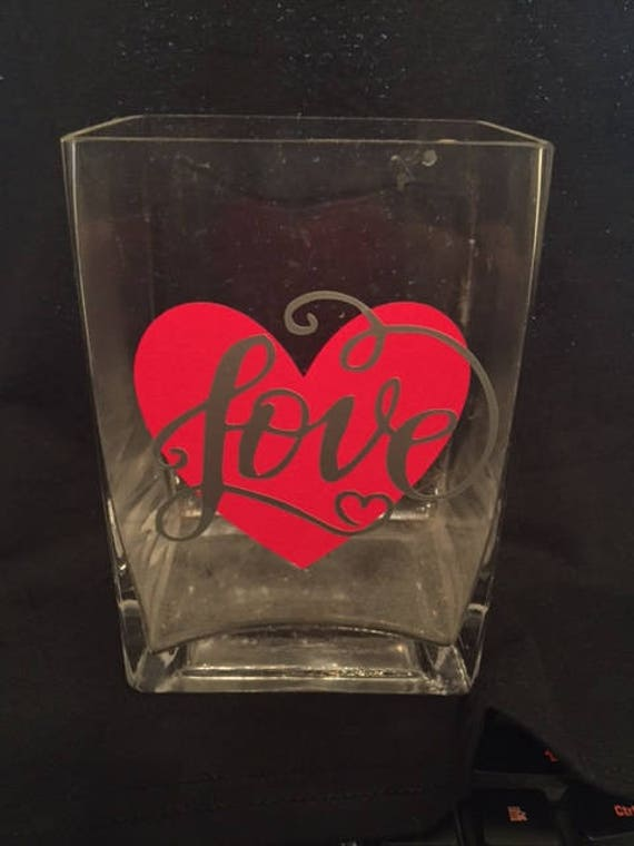 Personalized Glass Vase Valentines Day Love Etsy