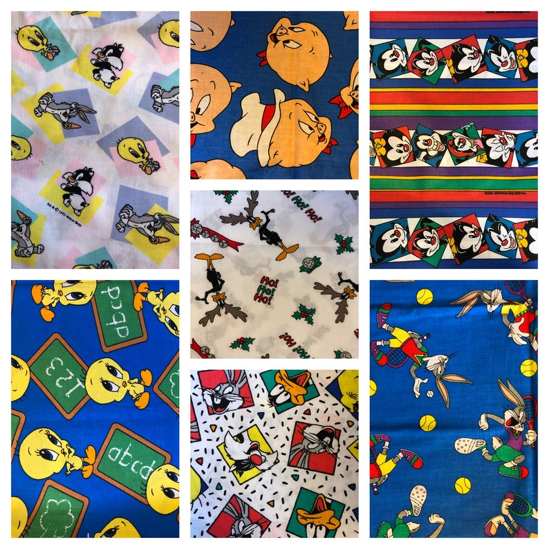 ABC BABY BUGS TWEETY /& SYLVESTER COTTON FABRIC BY THE YARD