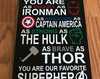 Superhero Quote Etsy