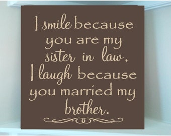 Sister In Law Quote Etsy