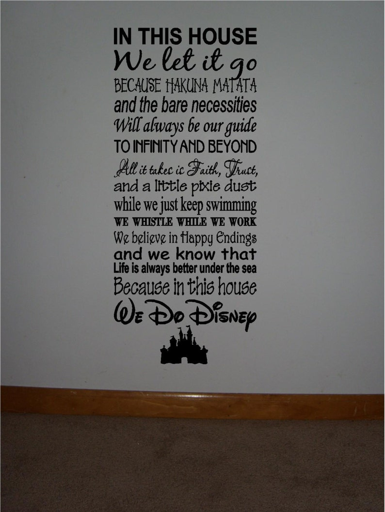Personalized Family Rules Disney Famous Movie Quotes Viny Etsy