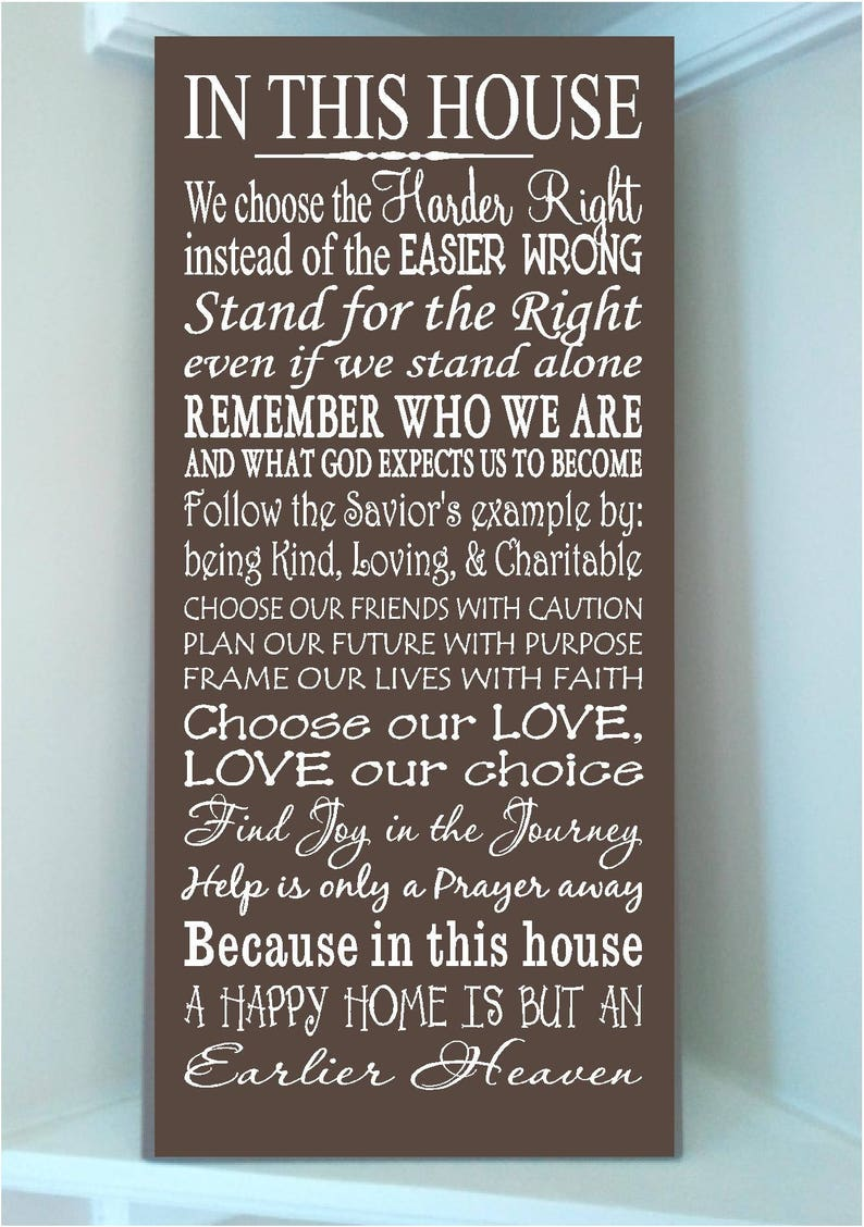 Thomas S Monson Quotes Wooden 10x24 Sign In This House We Etsy