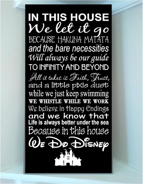 Beautiful Disney Famous Movie Quotes Wooden Subway Art 12x24 Etsy