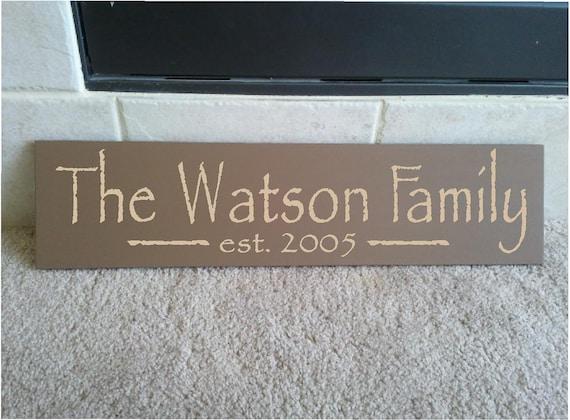 Belle Planche De Bois De 6 X 24 Signe Avec Famille Prenom Etsy