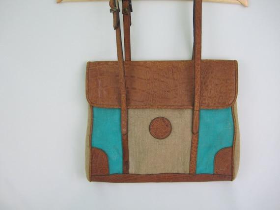 Earth Bags~Vintage~Shoulder~Messenger~Bag~Italian