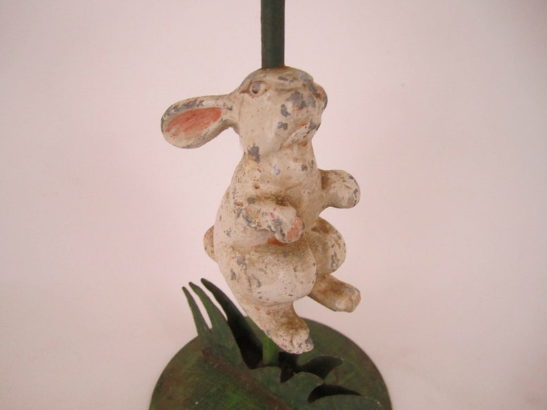 Metal Rabbit Candlestick Holder~Vintage~Antiqued~Hand Painted~Cottage~Country~Farmhouse~Spring Decor~5 Available