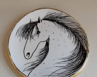 Items For Office Coin Dish Clay Polymer Clay Trinket Dish Ring Dish Horse Lover Gift For Horse Lover Gift For Mother Equestrian
