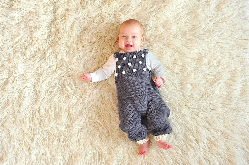 25ebb90a74971 Hand knitted newborn baby girl boy overall dungarees jumpsuit | Etsy