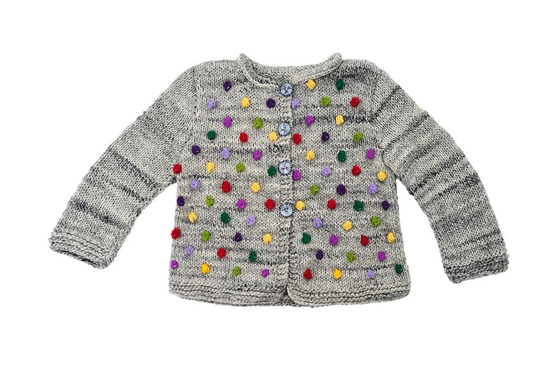 656578f43bd0 Baby toddler Girls sweater jacket knitted popcorn cardigan