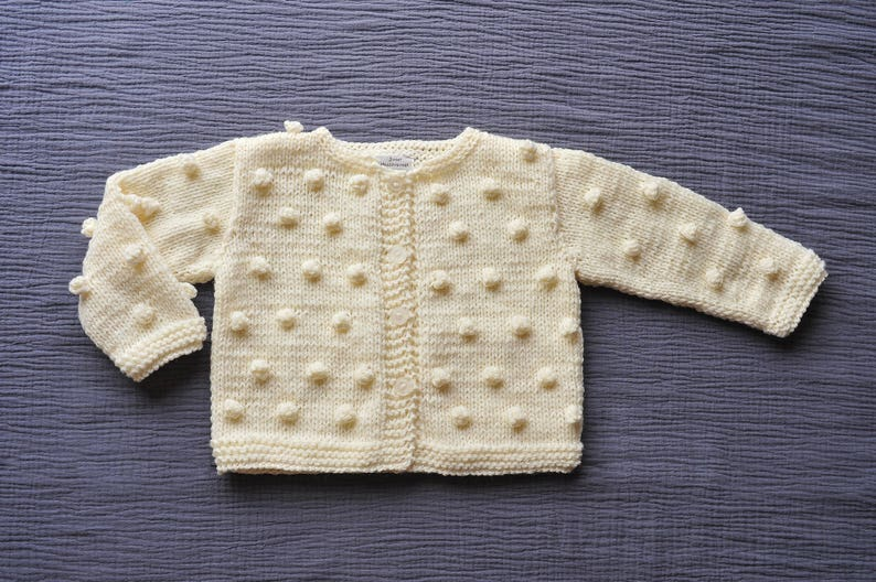 2bcffb6e6705 Newborn Baby Girls Boys Hand knitted Wool Cardigan Sweater