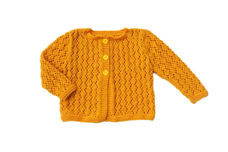 f74dafbdebaf Girls Sweater yellow mustard   mango Knitted cardigan wool