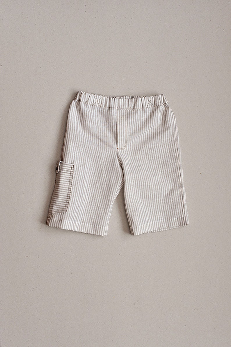 849c5d45dbba Baby Toddler Boys linen cotton bermuda shorts White Beige