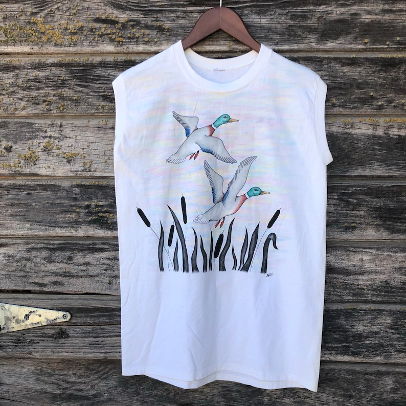 aa66a37356d0db Vintage sleeveless t-shirt custom handpainted bedazzled
