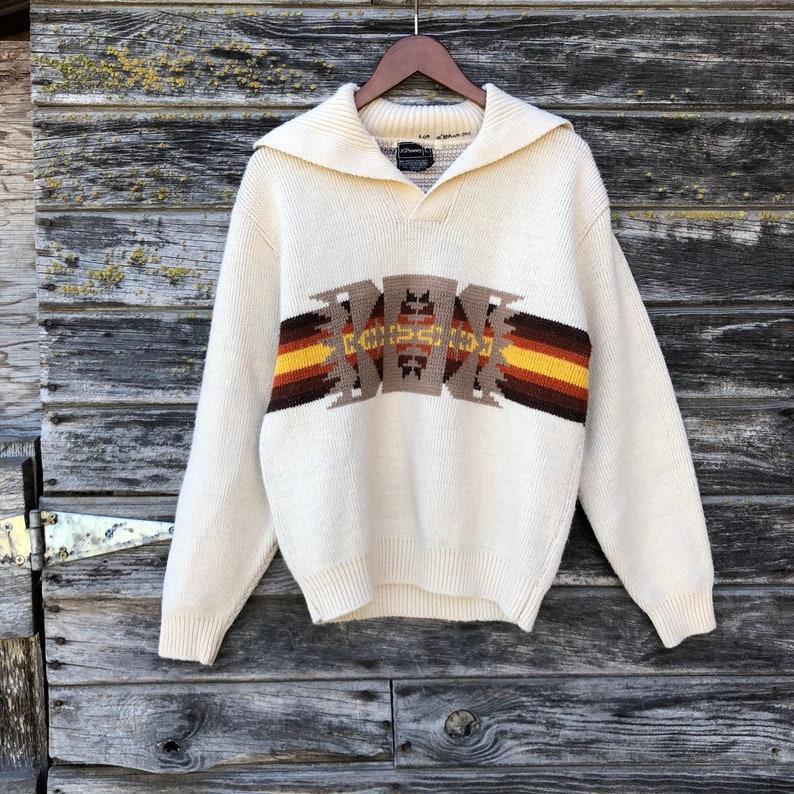 9ff287dbbf 70s vintage southwestern cowichan sweater tribal aztec native | Etsy