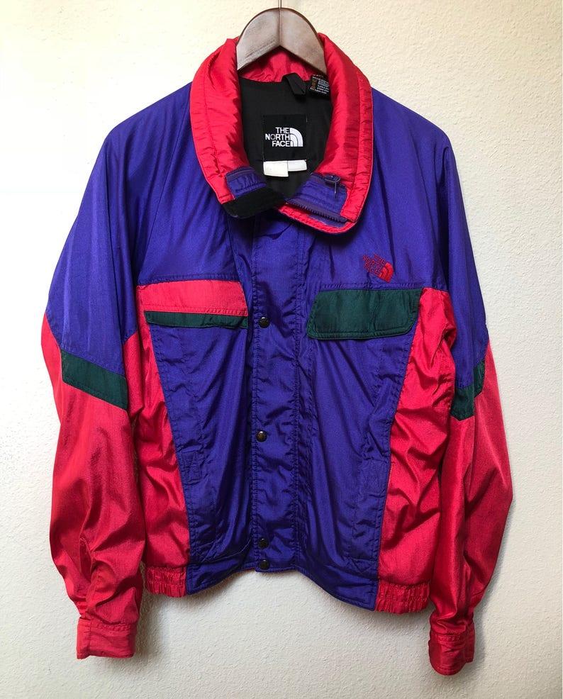 242e54445a Vintage North Face jacket Gore-Tex 90s windbreaker ski jacket 1990s  colorblock jacket festival raver streetwear purple