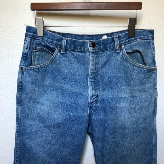 ea7a6cad7c Vintage Roebucks jeans 32 waist 33 light wash denim 70s jeans