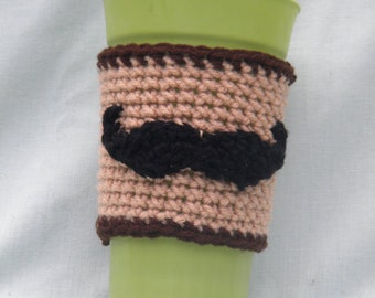 Pattern for Mustache Coffee Cozy