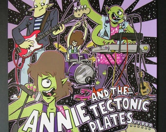 A3 Annie and the Tectonic Plates Gig Poster