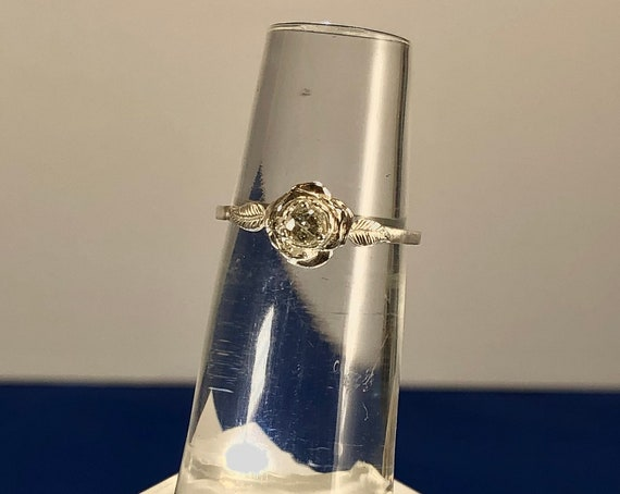 Sweet Rose Ring Sterling Silver Choose White Sapphire Blue White pink Topaz Tanzanite size 3 4 5 6 7 8 9 10 11 Handmade Fine Jewelry