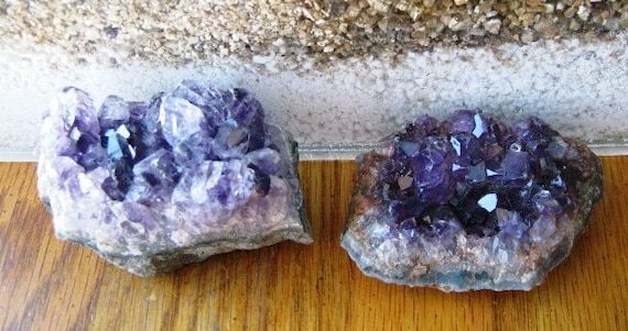 SanTa LefT U Amethyst Specimen genuine earth mine purple Quartz crystal rock hound collector stocking stuffer gift supply