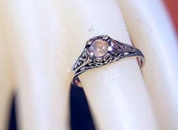 Rare Color Change Alexandrite Ring filigree Sterling Silver genuine green/ raspberry pink handmade 3 4 5 6 7 8 9 10 half sizes fine jewelry