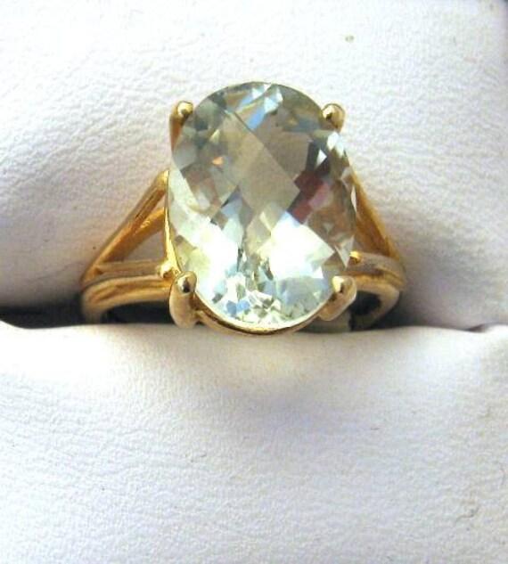 Mint Green Prasiolite Ring choose Sterling Silver 14k gold Blue Topaz Black Spinel Red Hessonite Garnet fine jewelry 1/2 size 4 5 6 7 8 9 10
