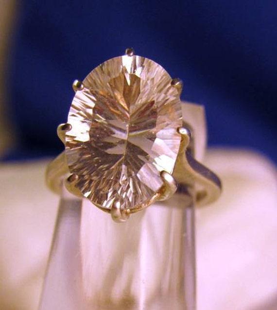 Huge Diamond White Quartz Gemstone Fantasy Quantum Cut custom size 3 4 5 6 7 8 9 10 11 handmade half sizes fine jewelry