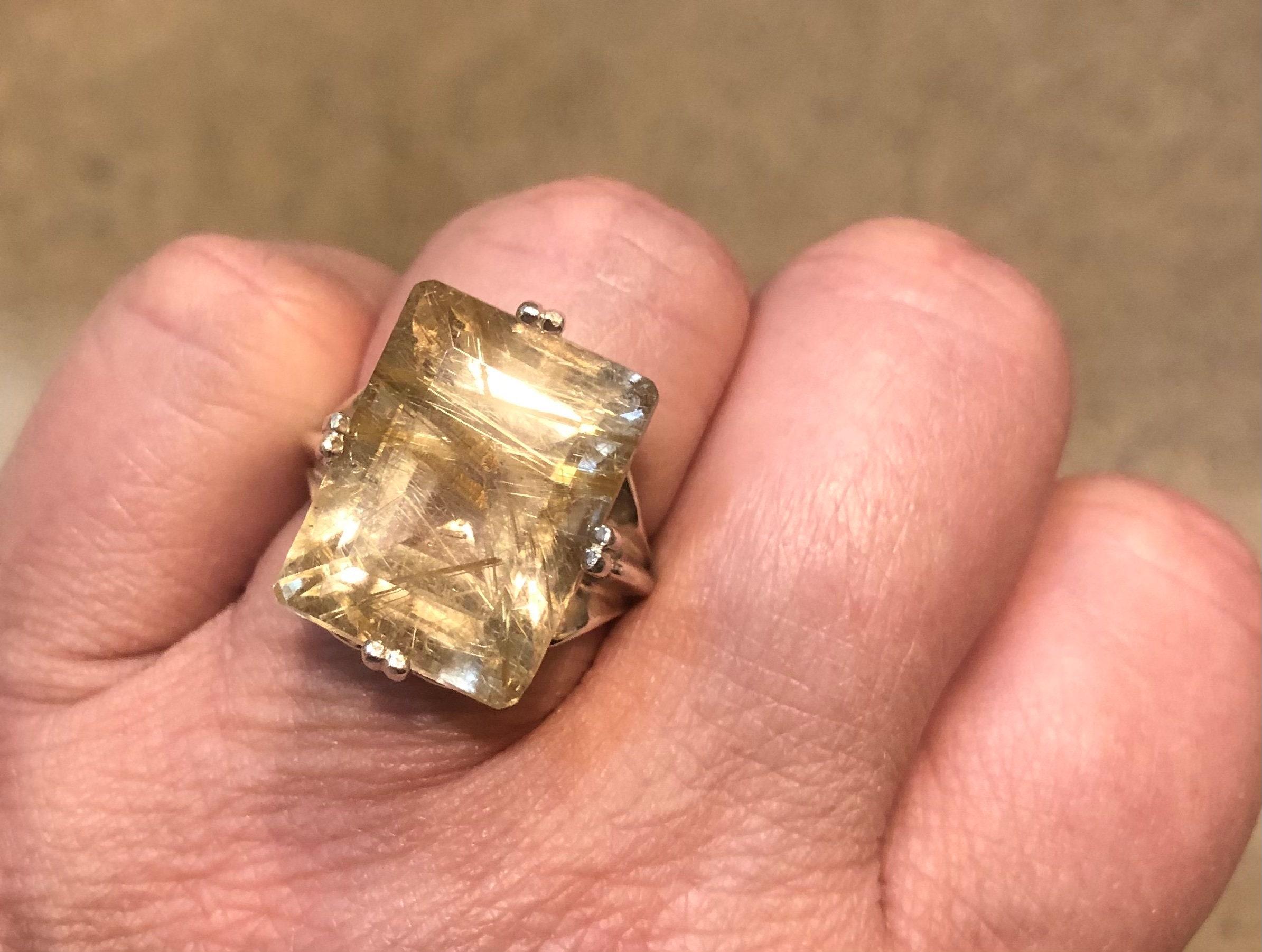 Natural Golden Rutile Pendant Gold Rutile Necklace Pendant 925 Sterling silver Rutalited quartz Fine Silver Pendant