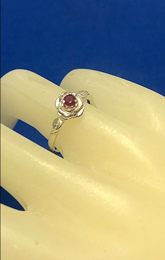 Sweet Ruby Rose Ring Sterling Silver Red Genuine Earth Mine Stones Alexandrite Sapphire size 3 4 5 6 7 8 9 10 11 Handmade Fine Jewelry