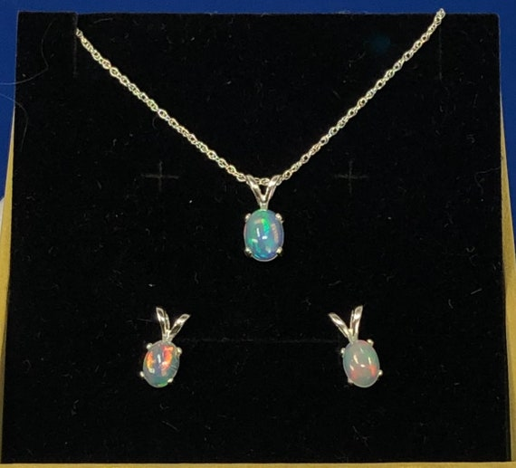 Ethiopian Welo Opal choice of 14k goldfill sterling pendant necklace chain handmade fine jewelry genuine white blue green red orange