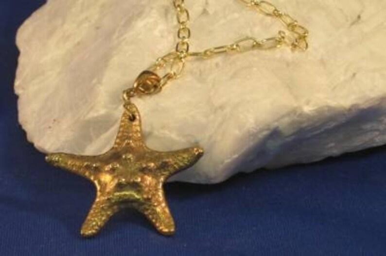 Bronze Starfish pendant in PMC Bronze clay image 0