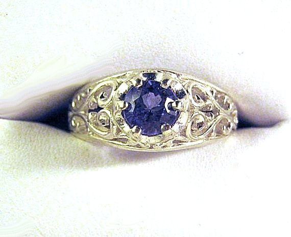 Lab Created Deep Blue Sapphire Open Work filigree Unisex Band Ring Sterling Silver Handmade size 4 5 6 7 8 9 10 11 Fine Jewelry