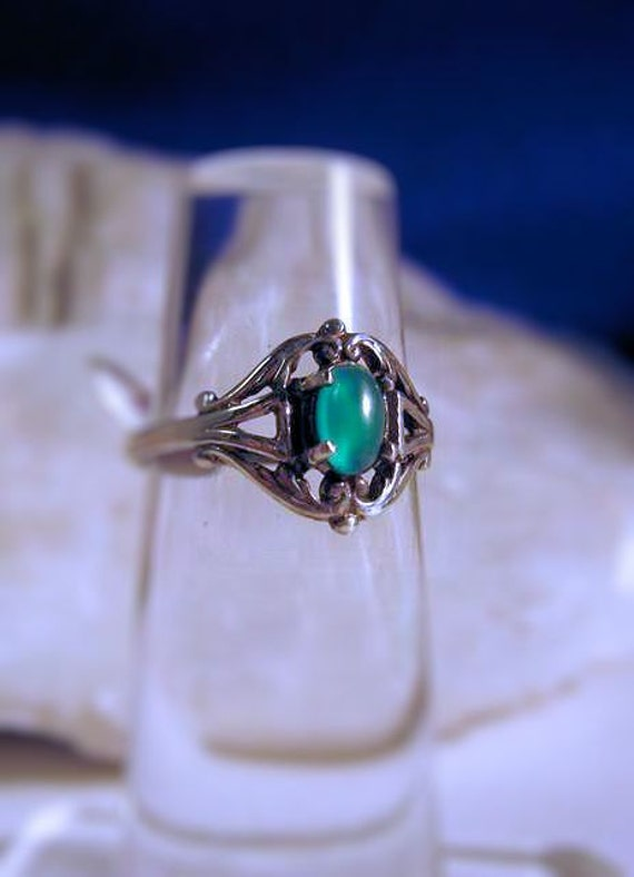 Sweet Green Chrysoprase Swirl Ring Sterling Silver fine jewelry Gemstone turquoise red garnet purple amethyst white moonstone golden citrine