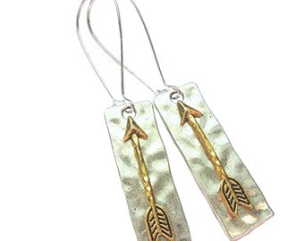 Dangle Style Arrow Drop Earrings Aim High Arrow Earrings New Earrings French Wire Earrings With Arrow Drop Arrow Earrings Earrings
