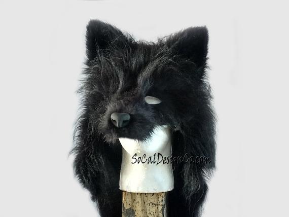 Black Wolf Mask Realistic Wolf Mask Custom Wolf Mask Etsy