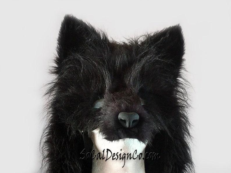 Wolf Masquerade Mask Custom Wolf Mask Black Wolf Mask Realistic Wolf Mask Commissioned Wolf Mask Wolf Costume Mask Halloween Mask