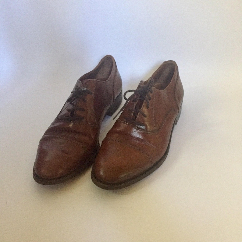 e0e04a81b076a Brown Leather Vintage Oxford Shoes -8