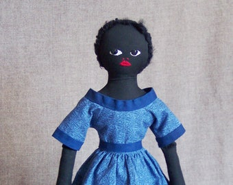 Lilly Jackson, primitive rag doll / folk art doll by Jan Conwell Folk Artist